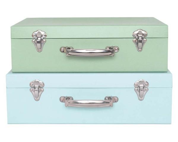Set 2 valises bleues