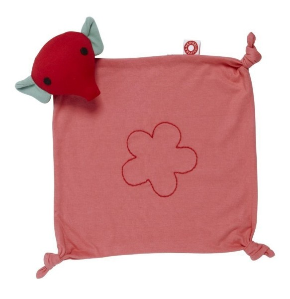 """Mimmi"" carré doudou rose"