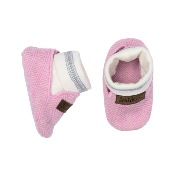 Chaussons collection cottage en coton biologique roses
