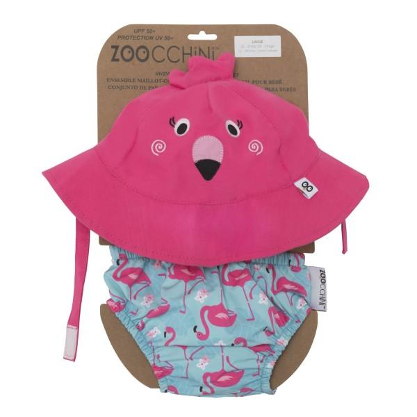 maillot de bain & chapeau Flamant rose (3-6 M)