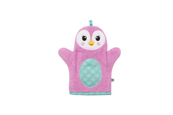 """Gant de bain """"Marionnette"""" pingouin"""