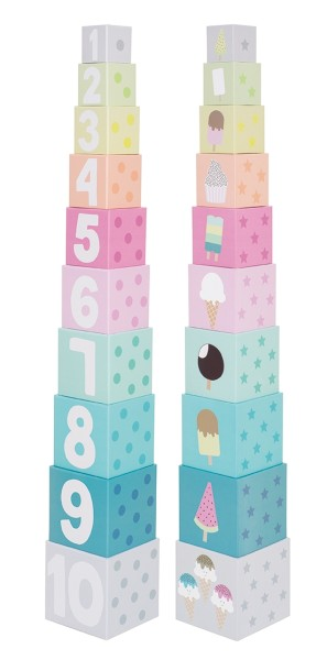 Cubes empilables 1-10 glaces