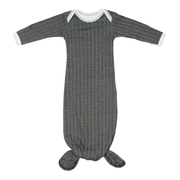 Grenouillère pingouin collection cottage en coton biologique gris foncé