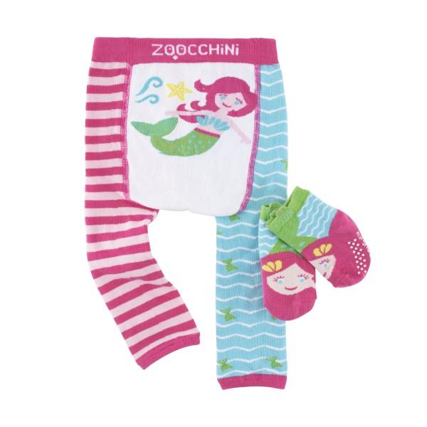 Leggings & chaussettes - sirène - 6-12 M