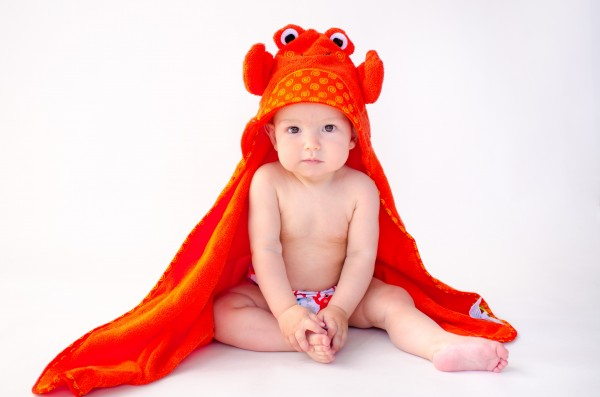 Charlie le crabe serviette bébé