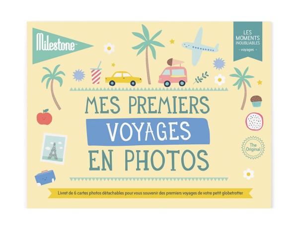 """Livret de cartes photos """"Mes premiers voyages""""."""
