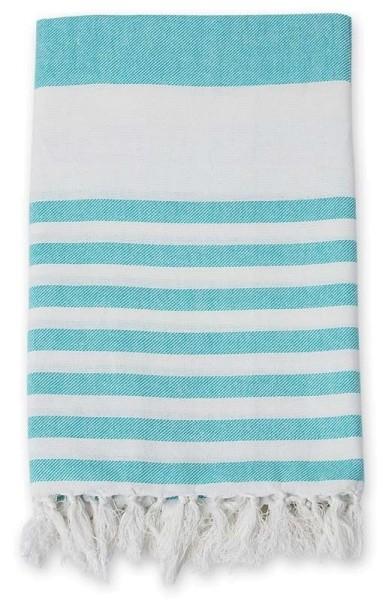 Serviette de plage (Turkish Towel) -Ocean Blue