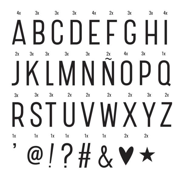 Set de lettres - Basic - black