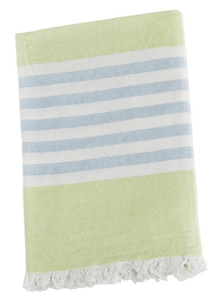 Serviette de plage (Turkish Towel) - Vert / bleue
