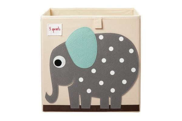 Cube de rangement jouets éléphant