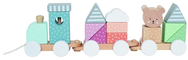 Train avec cubes teddy