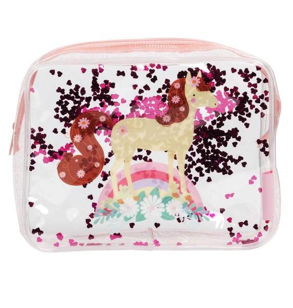 Trousse de toilette : cheval glitter