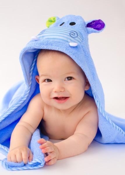 Henry l''hippo serviette bébé
