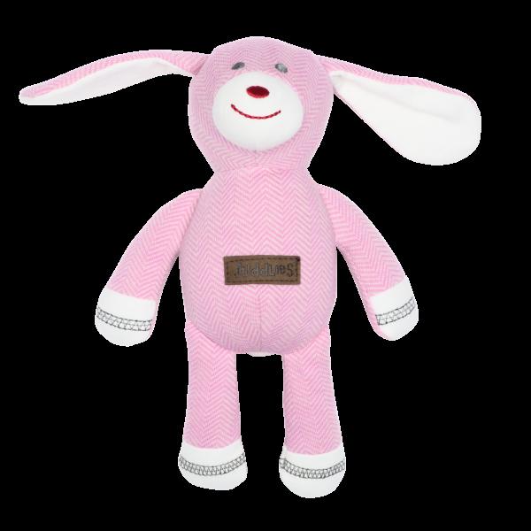 Hochet collection cottage en coton biologique rose