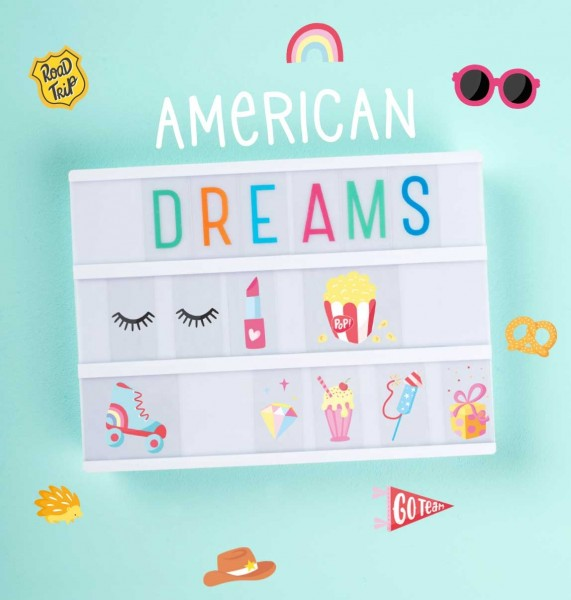 Set de lettres - American dreams