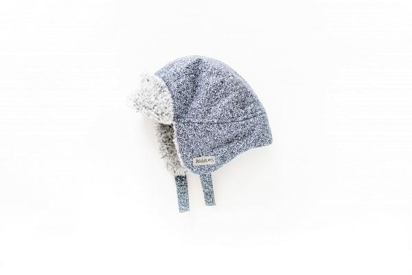 Bonnet d''hiver gris chiné 6-12 M