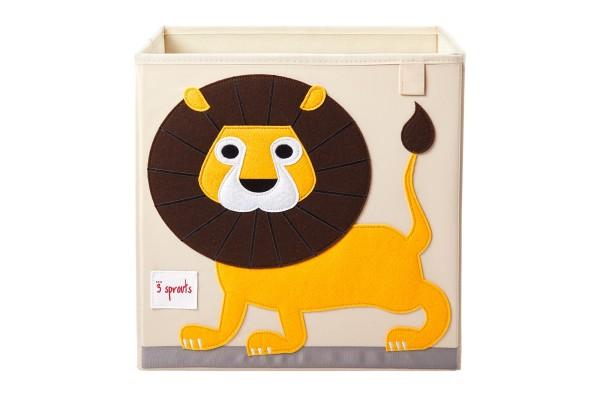Cube de rangement jouets lion