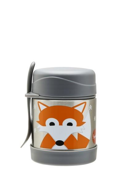 Boite alimentaire isotherme et fourchette renard