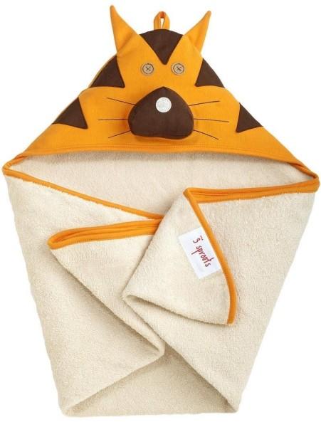 Serviette de bain avec capuche Tigre