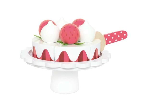 Gâteau fraises et crème