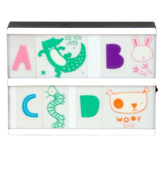 Set de lettres - ABC - pastel
