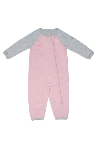 Grenouillère collection raglan rose M 6-12 M