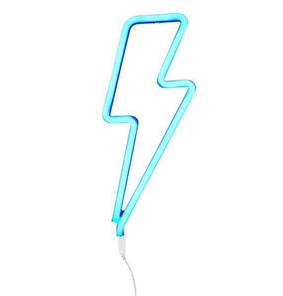 Lampe style néon éclair - bleu