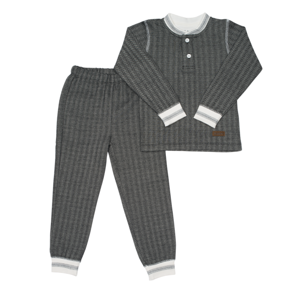 Pyjama collection cottage gris foncé S