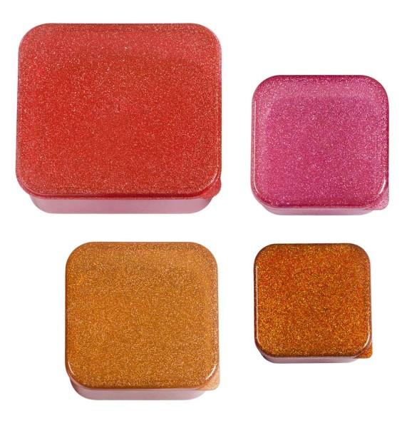 Boîte à collation rose paillettes