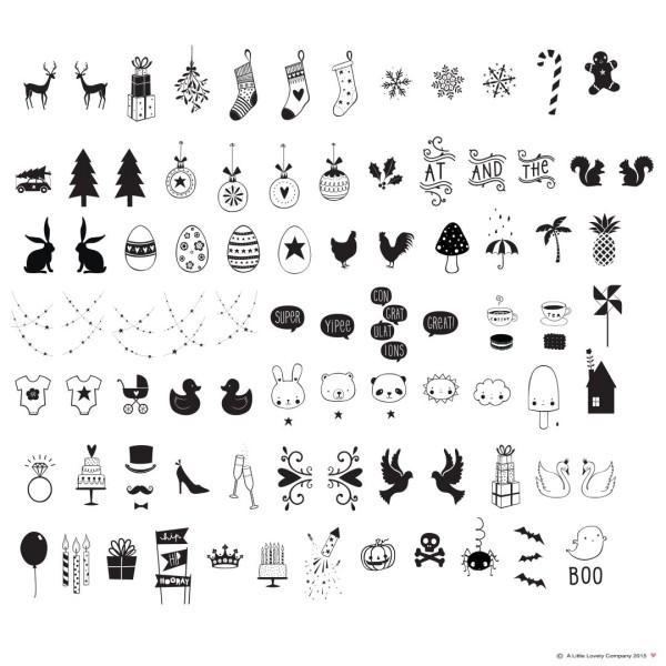 Set de symboles - celebrations