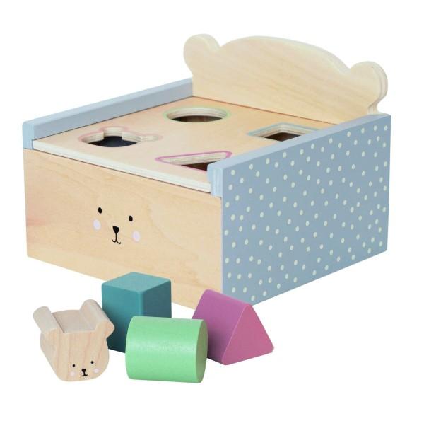 Boîte d''éveil bois teddy