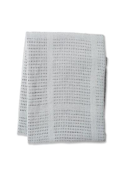 couverture tricot grise