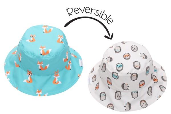 Chapeau réversible renard/hérisson