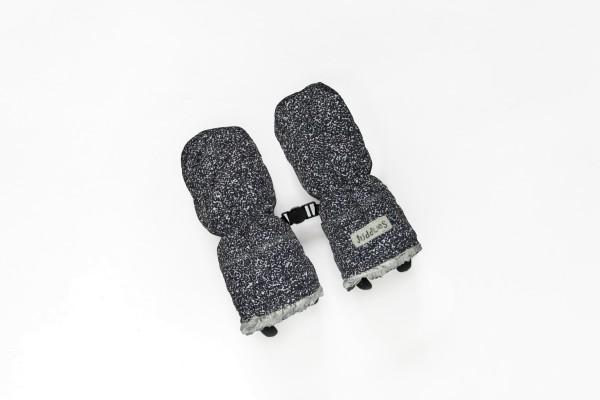 Gants d''hiver noir chiné 6-12 M
