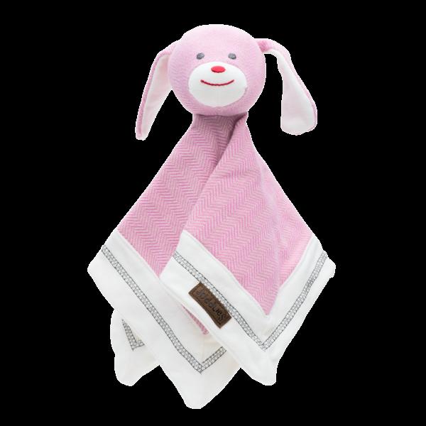 Doudou collection cottage en coton biologique rose