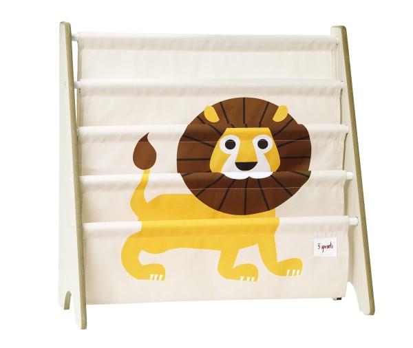 Rangement livres lion