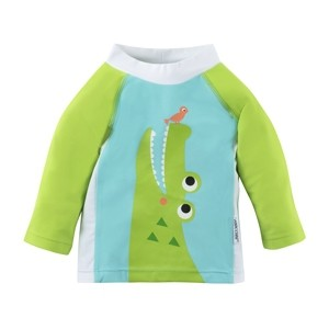 Tee-shirt anti UV rose motif crocodile (6-12M)