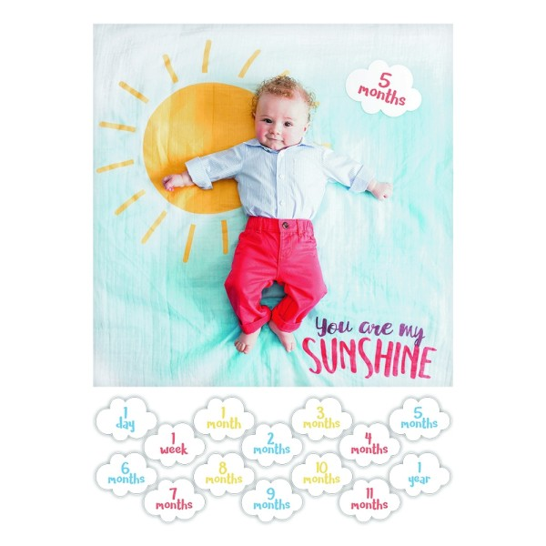"Lange en coton & cartes - ""You are my sunshine"""