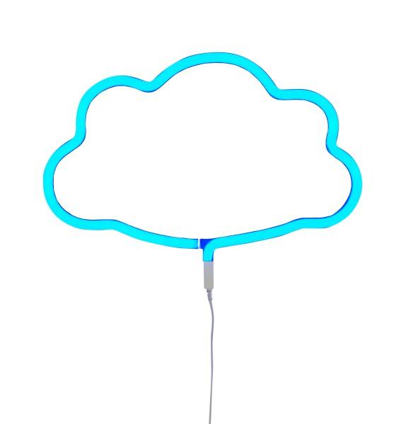 Lampe style néon nuage - bleu