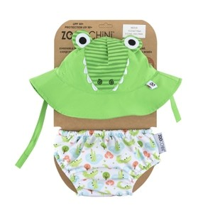 maillot de bain & chapeau - Crocodile (6-12 M)