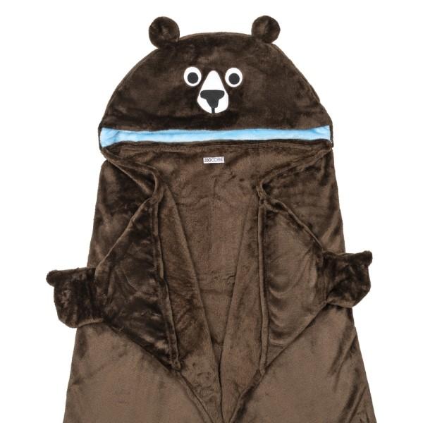 Couverture à capuche - Ours