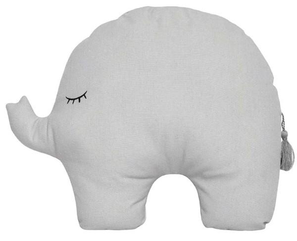 Coussin Elephant gris
