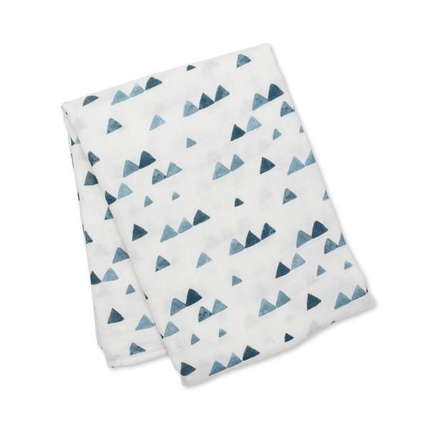 Lange bambou - Triangles bleus
