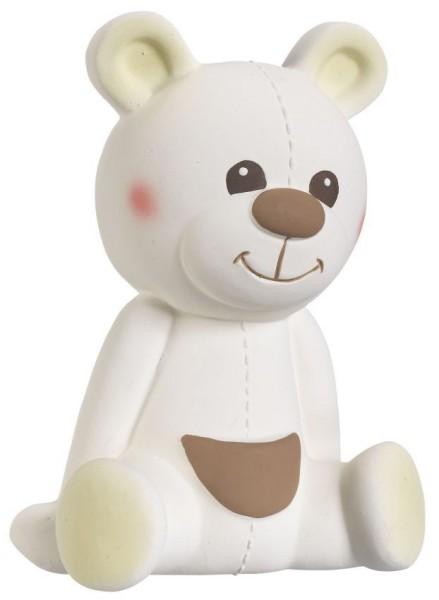 Gabin l''ours caoutchouc 100% naturel (boîte cadeau classique beige)