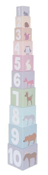 Cubes empilables 1-10 forêt