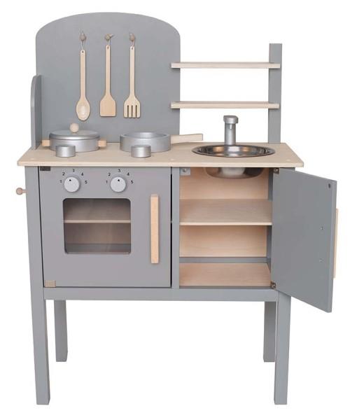 Cuisinière en bois gris