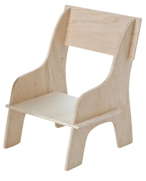 Petite chaise bois pour poupée