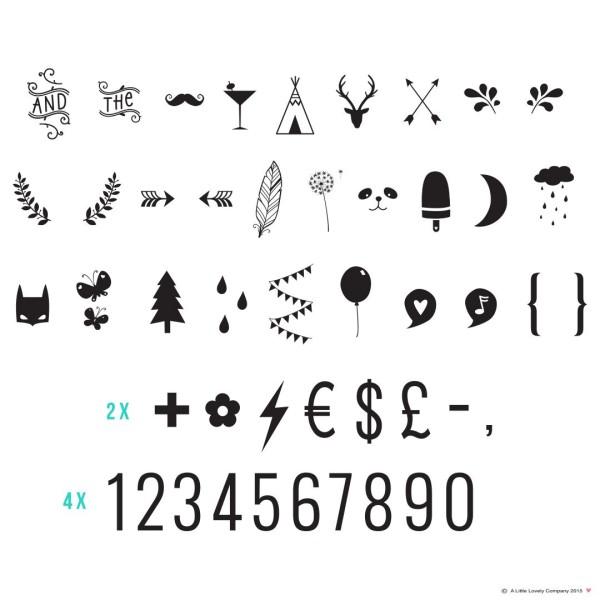 Set de symboles - nombres et symboles