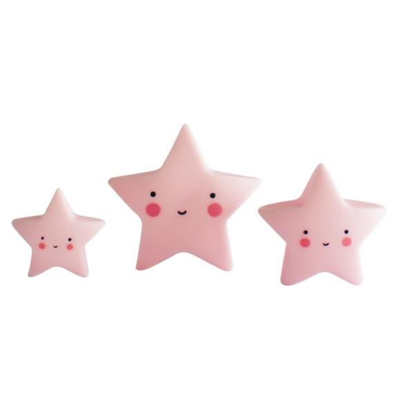 Minis étoiles - rose