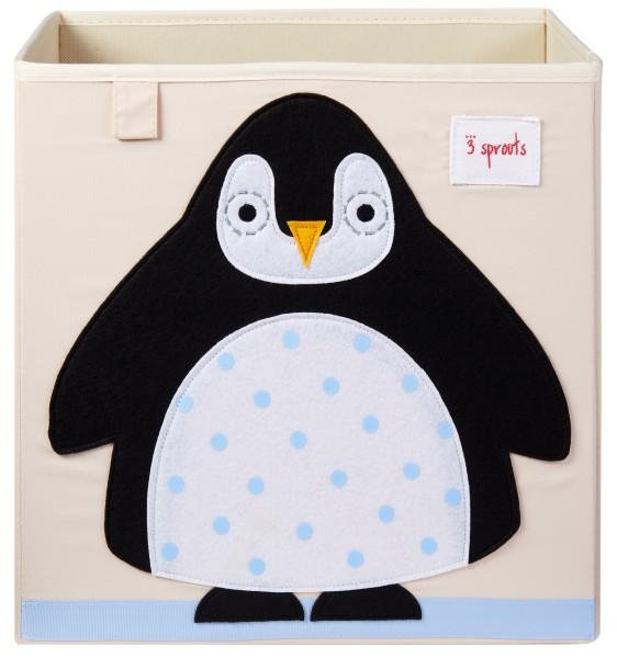 Cube de rangement jouets pingouin